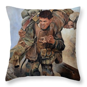29 Palms Mural 3 Throw Pillow by Bob Christopher