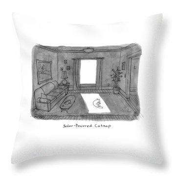 Solar Powered Catnap Throw Pillow