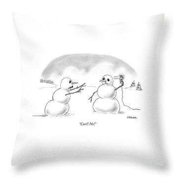 Carl! No! Throw Pillow