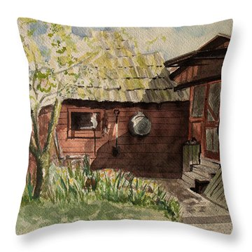 A Shanty Called Home Throw Pillow