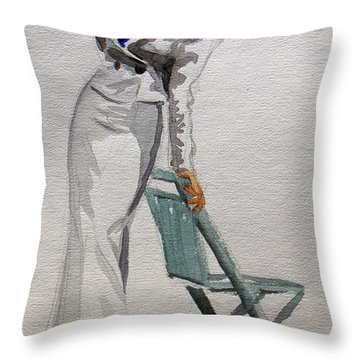 A Day At The Seashore 2 Throw Pillow