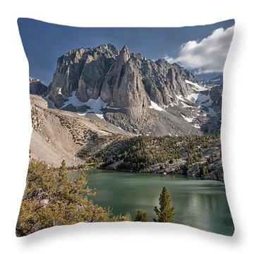 2nd Lake And Temple Crag Throw Pillow