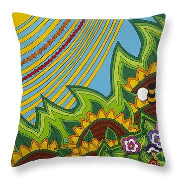 Sunflowers Throw Pillow by Rojax Art