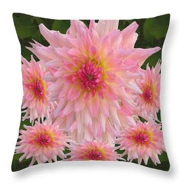 Abstract Flower Floral Photography And Digital Painting Combination Mixed Media By Navinjoshi       Throw Pillow