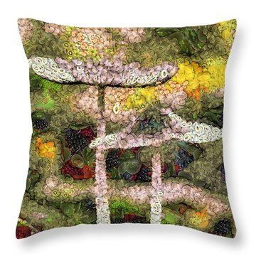 Fruits And Vegetables Throw Pillow