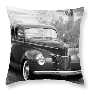 1940 Ford Deluxe Coupe Throw Pillow by Jill Reger