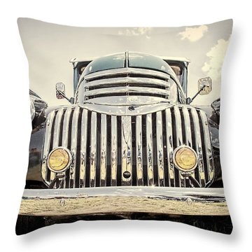 1947 Suburban Throw Pillow