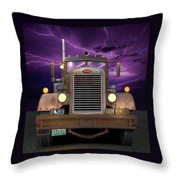 1955 Peterbilt Throw Pillow