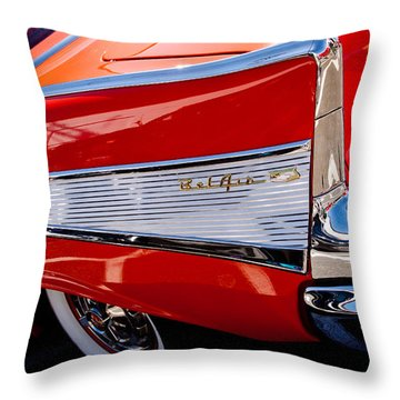 1957 Chevy Bel Air Custom Hot Rod Throw Pillow