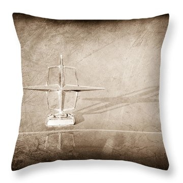 1967 Lincoln Continental Hood Ornament Throw Pillow