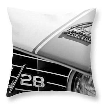 1969 Chevrolet Camaro Z-28 Emblem Throw Pillow by Jill Reger