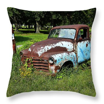 Throw Pillow featuring the photograph '48 Chevy by Paul Mashburn