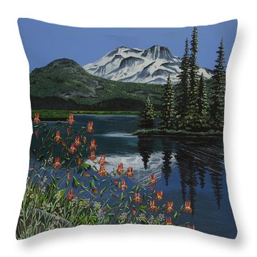 A Peaceful Place Throw Pillow by Jennifer Lake
