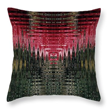 Abstract 117 Throw Pillow by J D Owen