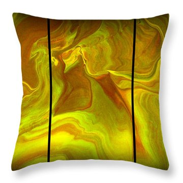 Abstract 99 Throw Pillow by J D Owen