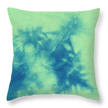 Abstract Batik Pattern Throw Pillow by Kerstin Ivarsson