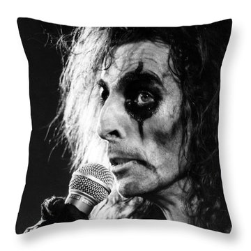 Alice Cooper 1979 Throw Pillow by Chris Walter