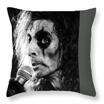Alice Cooper 1979 Throw Pillow