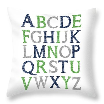 Alphabet Poster Throw Pillow