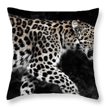 Amur Leopard Throw Pillow by Martin Newman