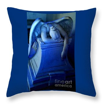 Angelic Sorrow Throw Pillow by Michael Hoard