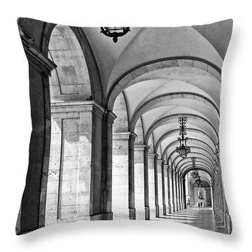 Arcades Of Lisbon Throw Pillow by Jose Elias - Sofia Pereira