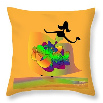 At The Prom Throw Pillow by Iris Gelbart