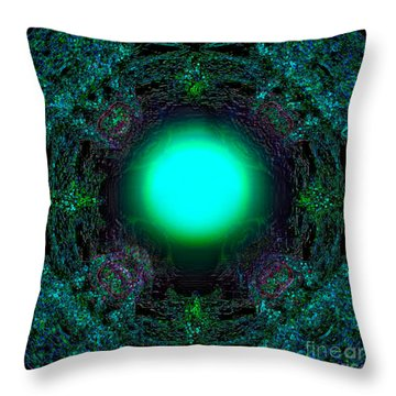 Throw Pillow featuring the digital art Attraction Of The Light by Hanza Turgul