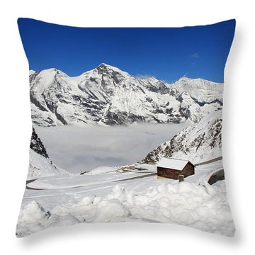 Austrian Mountains Throw Pillow