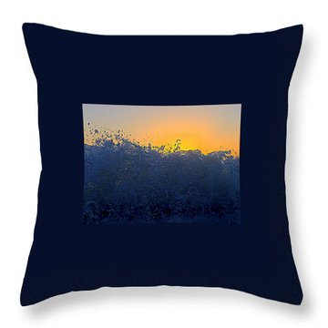 Badwave Throw Pillow