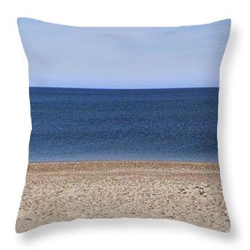 Color Bars Beach Scene Throw Pillow
