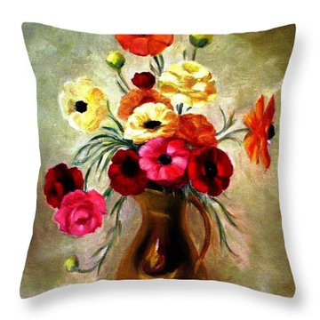 Basking In The Light Throw Pillow by Hazel Holland