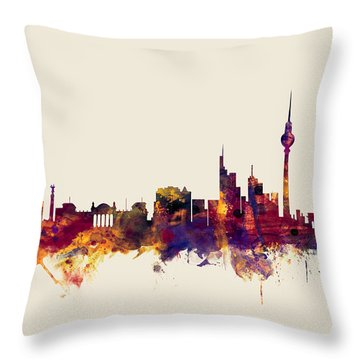 Berlin Germany Skyline Throw Pillow
