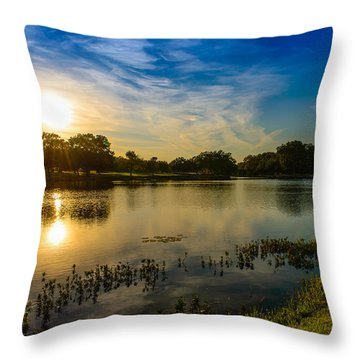 Berry Creek Pond Throw Pillow