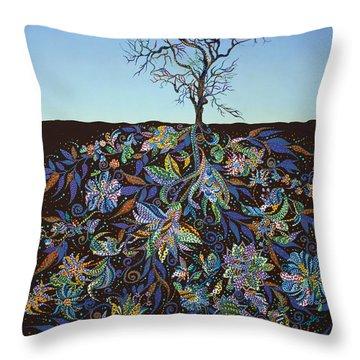 Blue Afternoon  Throw Pillow by Erika Pochybova