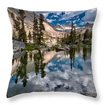 Blue Lake Throw Pillow by Cat Connor