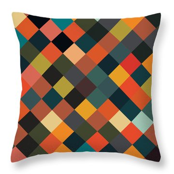 Bold Geometric Print Throw Pillow