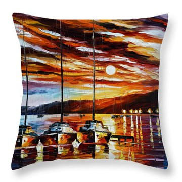 3 Borthers Throw Pillow by Leonid Afremov