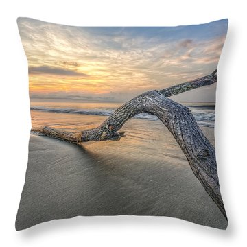 Bough In Ocean Throw Pillow