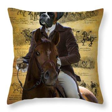 Boxer Art Canvas Print Throw Pillow