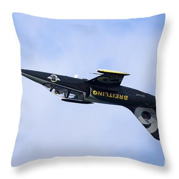 Breitling Air Display Team Throw Pillow by Nir Ben-Yosef