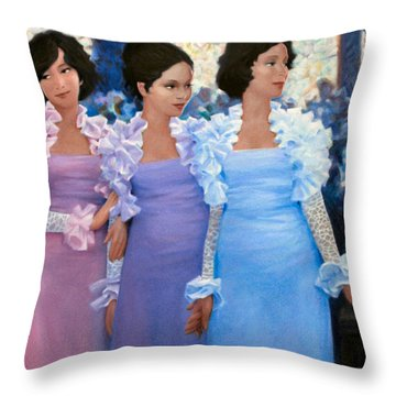 Brides Maids Throw Pillow