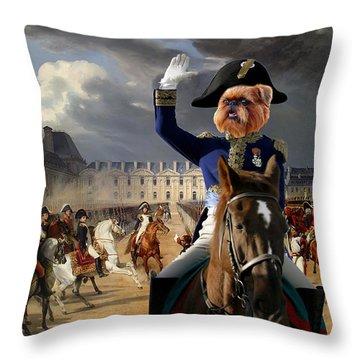 Brussels Griffon - Belgium Griffon Art Canvas Print Throw Pillow