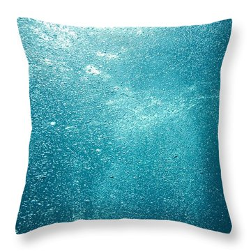 Bubbles Underwater Throw Pillow by Stuart Westmorland
