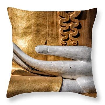 Buddha Hand Throw Pillow