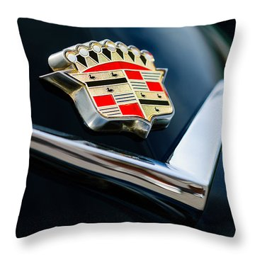 Cadillac Emblem Throw Pillow by Jill Reger