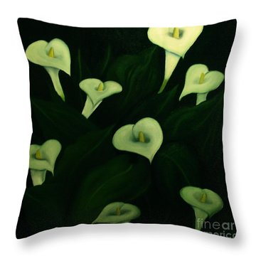 Calla Lilies Throw Pillow by John Stuart Webbstock