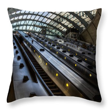 Canary Wharf Station Throw Pillow