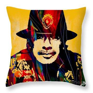 Carlos Santana Collection Throw Pillow