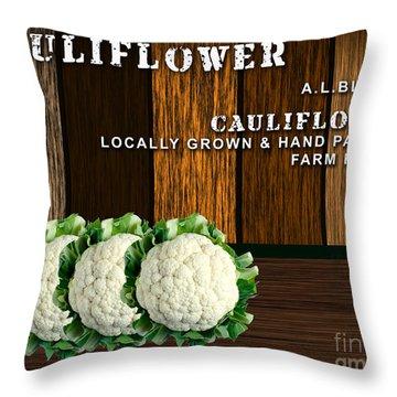 Cauliflower Farm Throw Pillow